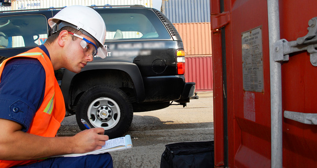 Inspection orders and containers